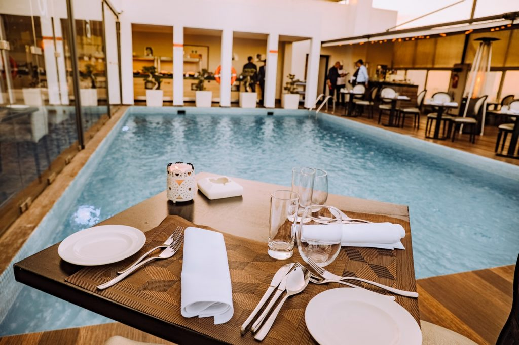 luxury hotel pool indoor restaurant