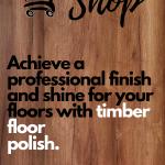 Timber floor polosh